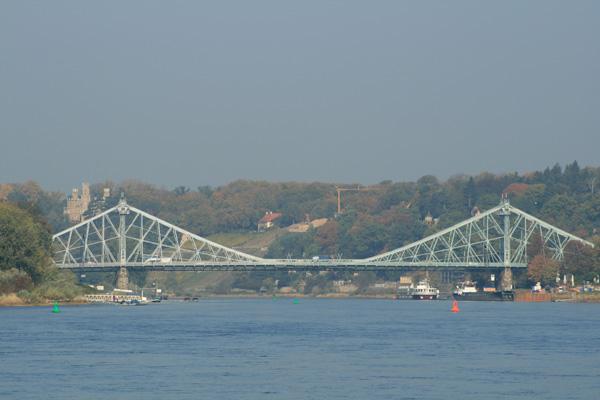 Blue Wonder Bridge Dresden